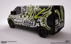 "Wrap car design 3 ""pronto rotulo"" on behance wraps наклейки Commercial Van, Commercial Vehicle, Custom Paint Jobs, Custom Cars, Car Stickers, Car Decals, Vehicle Signage, Vehicle Branding, Cars 1"