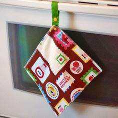 NEW Hanging Reusable Snapping Towel Set with Ribbon by mamamade