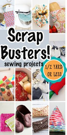 A HUGE list of sewing projects that use a yard of fabric of less. Sew some easy scrap busters to use up your stash and organize you home with this fabulous scrap busting sewing tutorials. Scrap Fabric Projects, Small Sewing Projects, Sewing Projects For Beginners, Sewing Hacks, Sewing Tutorials, Fabric Crafts, Sewing Crafts, Sewing Tips, Cotton Crafts