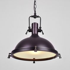 Nautical Pendant Light with Frosted Diffuser - Beautifulhalo.com Industrial Lighting, Outdoor Lighting, Pendant Lighting, Nautical Pendants, Diffuser, Bulb, Shades, Ceiling Lights, Purple