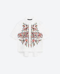 Camisa con bordados - TELVA.COM
