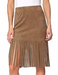 Jupe mit Fransenabschluss Tie Dye Skirt, Midi Skirt, Skirts, Fashion, Financial Statement, Moda, Fashion Styles, Midi Skirts, Skirt