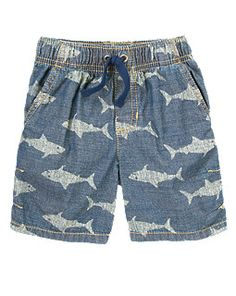 gymboree Shark Chambray Shorts