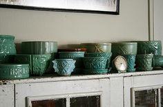 Green McCoy Pottery