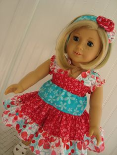 "Juvie Moon Designs LIDDY DOLL Dress PDF Pattern for 18"" Dolls. $7.00, via Etsy."