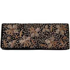 A Vintage, French, Hand Emroidered, Clutch Bag   From a collection of rare vintage evening bags and minaudières at https://www.1stdibs.com/fashion/handbags-purses-bags/evening-bags-minaudieres/