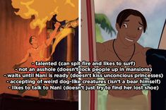 "Psa david from ""lilo & stitch"" is better than all the other disney princes Funny Disney Memes, Disney Facts, Disney Quotes, Disney Cartoons, Disney And Dreamworks, Disney Pixar, Walt Disney, Lilo E Nani, Lilo Stitch"