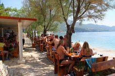 Strandrestaurant, Essen mit Blick aufs Meer, Camping Nevio.