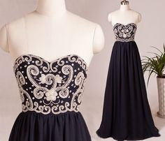 Beautiful Prom Dress, navy blue prom dresses chiffon prom dresses a line prom dress long prom gown modest prom gowns beaded evening dress elegant prom gown Meet Dresses Modest Prom Gowns, Bridesmaid Dresses 2018, Prom Dresses 2016, Dresses Short, Unique Prom Dresses, Chiffon Evening Dresses, Long Prom Gowns, Black Prom Dresses, Prom Dresses For Sale