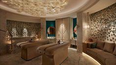 See the beauty inside and out of the Waldorf Astoria Ras al Khaimah beach resort. Enjoy a luxury holiday near Dubai at the Ras al Khaimah hotel, with golf and spa. Centre Spa, Ras Al Khaimah, Spa Rooms, Waldorf Astoria, Wellness Spa, Luxury Spa, Luxury Holidays, Ceiling Windows, New Delhi