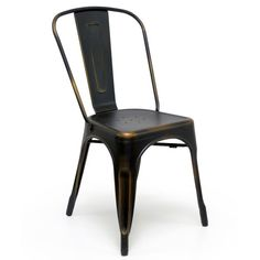 """Aeon Garvin-1 Side Chair Antcopper - Our Garvin-1 galvanized steel chair's classic industrial look is perfect in a variety of settings. Whether it's in your urban apartment or your rustic country home, the Garvin-1 is both stylish and functional. Chairs are suitable for indoor or outdoor use and come with non-marking feet to protect your floors. Dimensions: 17.5""""w x 18""""d x 33""""h."""