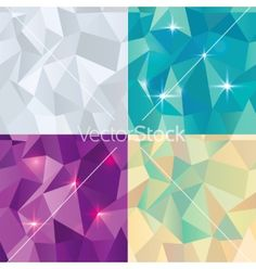 Seamless polygonal pattern background vector on VectorStock
