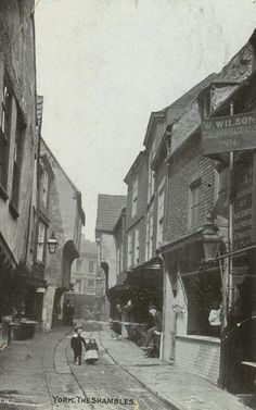 WE RETURN to Peggy Sterriker's great collection of old postcards for some more views of bygone York today. Victorian Street, Victorian Life, Modern Victorian, York Uk, York England, Old Pictures, Old Photos, Vintage Photos, Local History