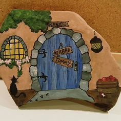 Flagstone Nana's House - this treasure I painted has flown oversees and is a garden in Ireland, how cool is that. #flagstone #nanashouse #paintedflagstone #slate #paintedslate #painting #rockpainting #stone #stonepainting #paintedrock #paintedrocks #paintedstone #paintedriverrock #stoneartist #rockartist #stoneart #rockart #handpainted #artist #paperweight #doorstop #uniquegift #stresstherapy #the6ix #sauga #thebeaches #toronto #tdot #thepaintedpot