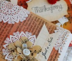 great tutorial on using Ice Resin with vintage papers (Besty Veldman)