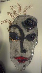 Funny Face, raku ceramics by Tammy Vitale, tammyvitale.com