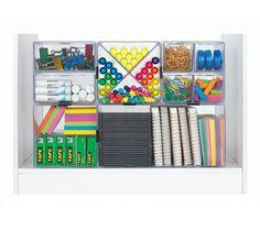 deflect-o 4-Compartment X-Divider Cube Organizer, Clear