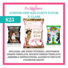 Learn my personal method of creating custom potato chip bags!The class will go over the following:PART 1:Photoshop Lesson: How I create my bags using PhotoshopMockup Creation: Learn how to create mock-ups for your clientsPART 2:Assembly: Learn how to fold, assemble and seal the bags You will receive the following instant downloads  FULL 1HR Tutorial Video Chip Bag Photoshop Template Chip Bag Mock-up Template (for customer previews and advertising) Access to FB group for sharing and…