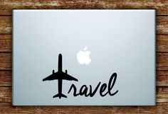Travel Airplane Quote Laptop Decal Sticker Vinyl Art Quote Macbook Apple Decor Adventure Wanderlust