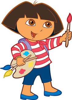 What is Dora going to do? School Painting, Painting For Kids, Art For Kids, Cute Cartoon Pictures, Cartoon Pics, Dora Drawing, Dora Cartoon, 1990 Cartoons, Dora The Explorer