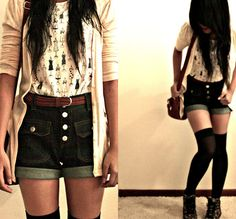 """Floral High Cut Sneakers From Topshop, Knee High Sheer Tights // """"Just a dream."""" by Lynnie C // LOOKBOOK.nu  found on http://lookbook.nu/look/2392593-Just-a-dream"""