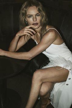 Actress Kate Bosworth wears David Koma dress and Anita Ko earrings