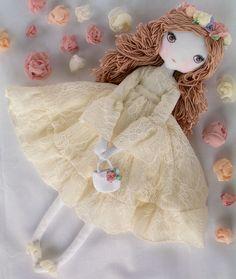 Handmade doll personalized doll dolls for girls handmade Little Girl Gifts, Flower Girl Gifts, Baby Girl Gifts, Doll Toys, Baby Dolls, Girl Dolls, Dolls Dolls, Sewing Dolls, Homemade Dolls
