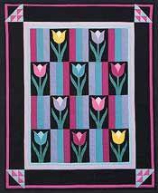 Quilt:  Amish Tulip Quilt