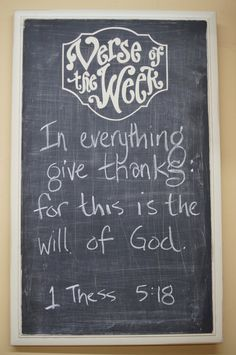 Ridged Cabinet Verse of the Week Chalkboard - Scripture Memory - Bible Verse - quote