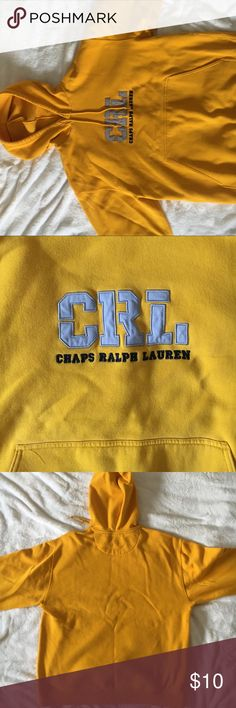Ralph Lauren hoodie sweatshirt, size Large comfy hoodie mustard yellow sweatshirt Ralph Lauren Tops Sweatshirts & Hoodies
