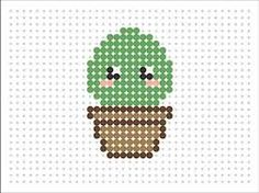 Resultado de imagen para hama beads plantillas kawaii Perler Beads, Hama Beads Kawaii, Perler Bead Art, Hama Beads Patterns, Beading Patterns, Mosaico Lego, Cross Stitching, Cross Stitch Embroidery, Kawaii Cross Stitch