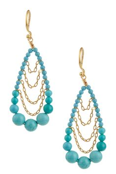 the combo of blue and gold earings!