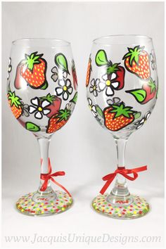 unique hand painted wine glasses artsy hand painted strawberry wine glass set fruit summer hand glasses gift set 157 best jacquis unique designs images on pinterest home decor