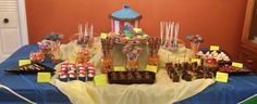 Chocolate, cake and candy buffet