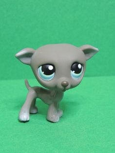 #319 Chien Lévrier Dog Grey Greyhound blue eyes LPS Littlest Pet Shop Figurine