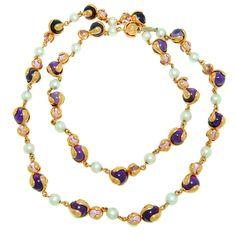 1stdibs | MARINA B Gold Cardan Perles Long Necklace
