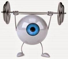 exercising eye