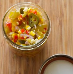 Corn chowchow - yummy southern recipe for spicy corn relish, if you love vinegar, you'll love this