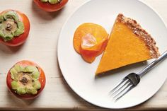 Persimmon Pumpkin Pie. This Floral Fruit Gives Pumpkin Pie a Special Twist