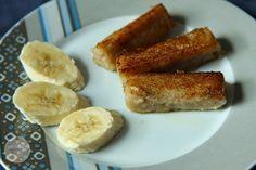 Heute habe ich eine Frühstücksidee für euch. Ihr könnt die Banane auch durch anderes Obst ersetzten. Wir haben sie schon mit Birne und mit ...