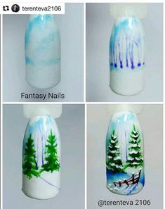 Trendy fails art step by step natale Ideas # Fails art Chistmas Nails, Xmas Nail Art, Holiday Nail Art, Xmas Nails, New Year's Nails, Winter Nail Art, Winter Nails, Summer Nails, Christmas Nail Art Designs
