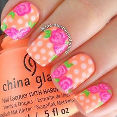 47 Gorgeous Rose Nail Art Designs For Summer - EcstasyCoffee