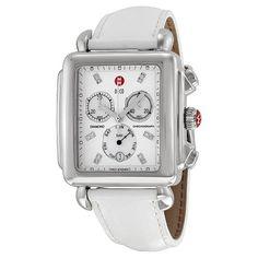 Michele Deco Xl Day Non-Diamond, Diamond Dial White Patent Mww06z000011 Watch