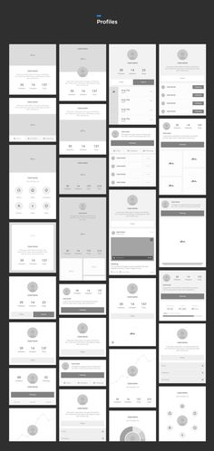 consistent and meticulously organized set of vector-based wireframe components to quickly bring your iOS and Android app ideas to life. Think of it as your wireframing workflow, on steroids. App Wireframe, Wireframe Design, Graphisches Design, App Ui Design, Mobile Wireframe, User Interface Design, Application Ui Design, Mobile Application, App Design Inspiration