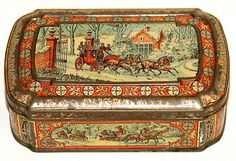 Huntley Palmers Four in Hand Christmas Biscuit Tin 1888