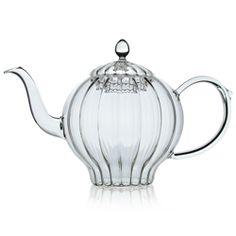 Hand blown glass teapot