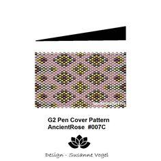 peyote pattern,instant PDF-Download,G2 pen pattern, #007C, G2 Pilot pen cover,beading pattern,beading tutorials,pen wrap pattern von bellepatterns auf Etsy