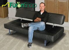Sleek Atlantis Modern Convertible Futon