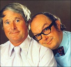 Ernie Wise 1925 to 1999 Eric Morecambe 1926 to 1984. Every Christmas Day evening for most of my childhood. So funny!
