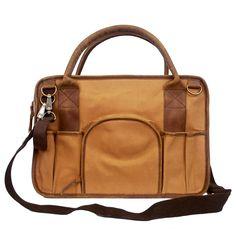 Leather & Canvas Tool Bag - UnitedByBlue. Great overnight bag.
